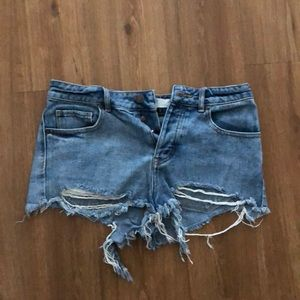 Brandy Melville Destroyed Shorts